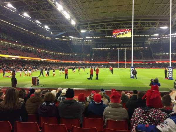 Principality Stadium, section: L20, row: 11, seat: 12