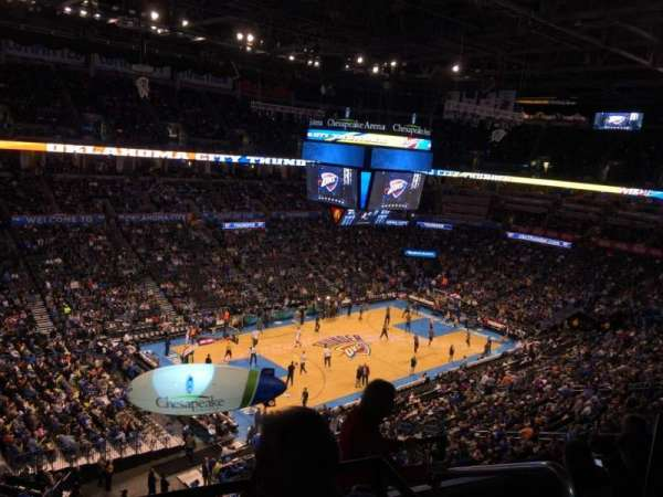 chesapeake energy arena, section: 312