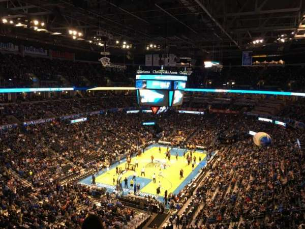 Chesapeake Energy Arena, section: 314