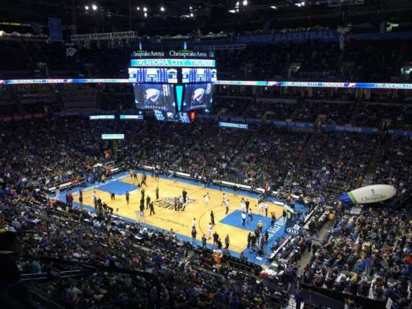 Chesapeake Energy Arena, section: 321