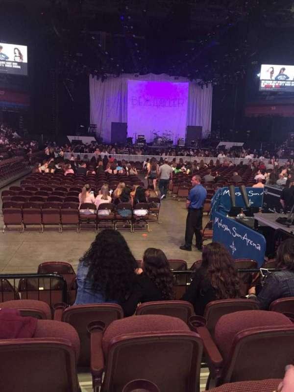 Mohegan Sun Arena, section: 21, row: F, seat: 6