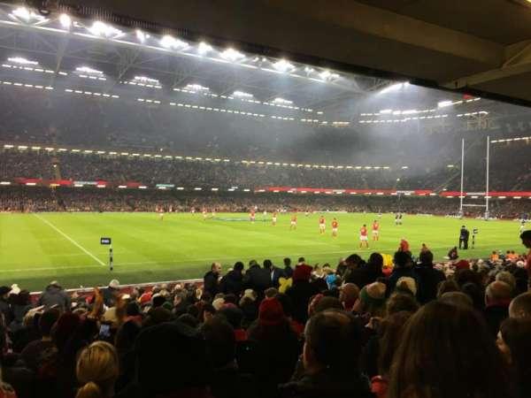 Principality Stadium, section: L11, row: 20, seat: 6