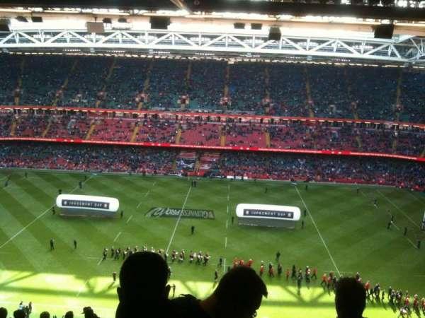 Principality Stadium, section: U8, row: 30, seat: 3