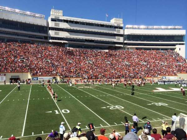 Lane Stadium, section: 17, row: W, seat: 10