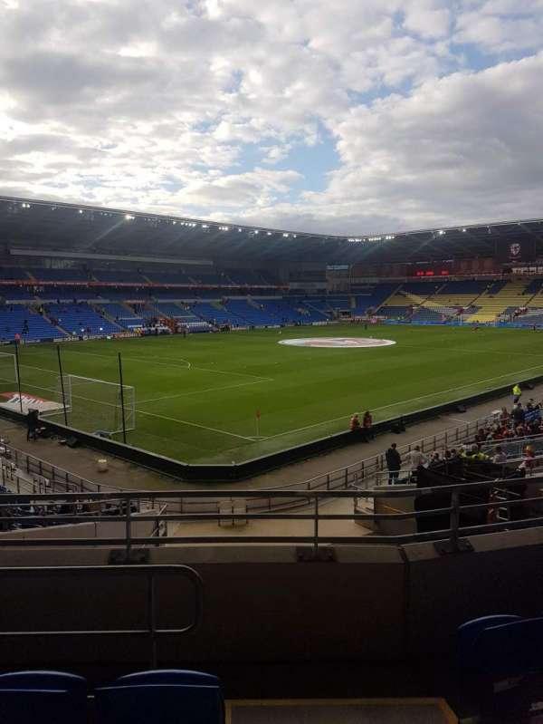 Cardiff city stadium, section: 121, row: Y, seat: 57