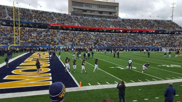 Mountaineer Field, section: 102, row: 3, seat: 16