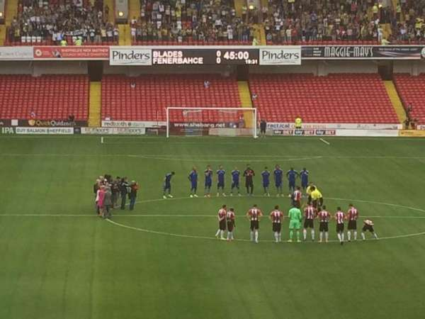 Bramall Lane, section: E, row: PP, seat: 87