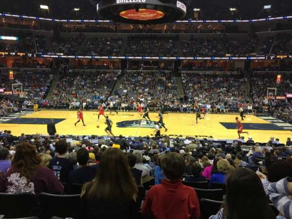 FedEx Forum, section: 105, row: T, seat: 7