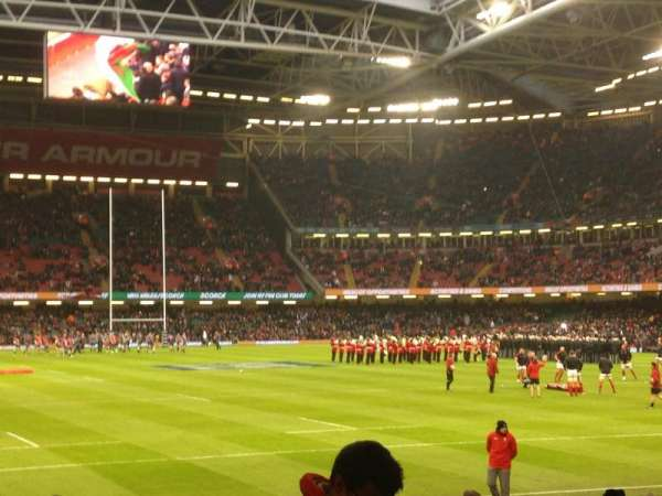 Principality Stadium, section: L22, row: 21, seat: 4