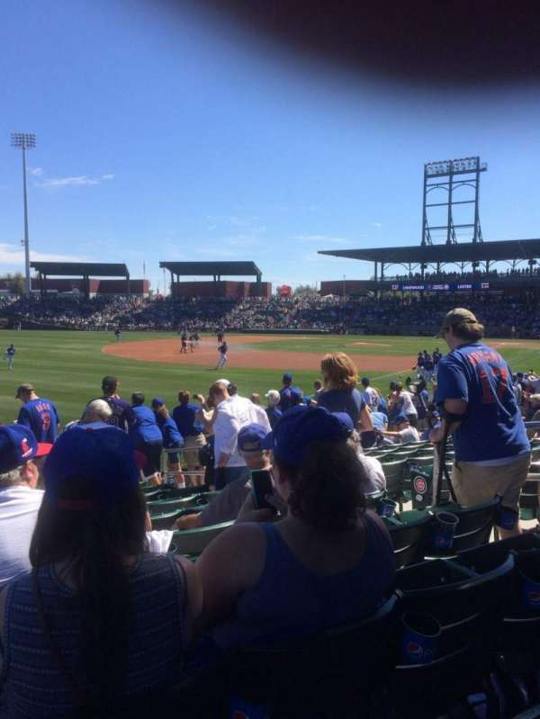 Sloan Park, section: 102, row: 18, seat: 15
