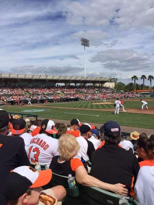 Ed Smith Stadium, section: 105, row: 9, seat: 6