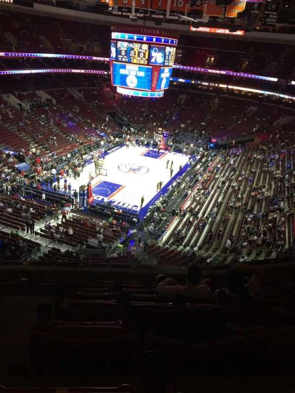 Wells Fargo Center, section: 209, row: 8, seat: 3-4