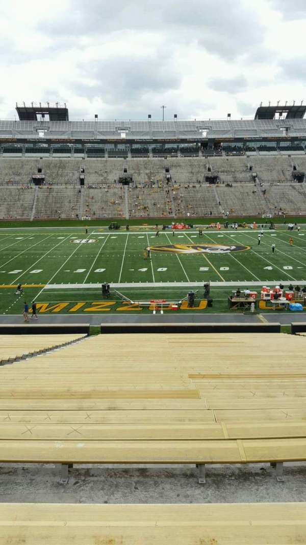 Faurot Field , section: 120, row: 42, seat: 21