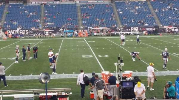 Gillette Stadium, section: 110, row: 13, seat: 5