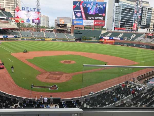 SunTrust Park, section: 225, row: 2, seat: 1