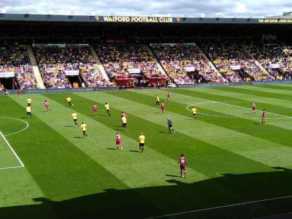 Vicarage Road, section: UGT - Upper Graham Taylor, row: W, seat: 31