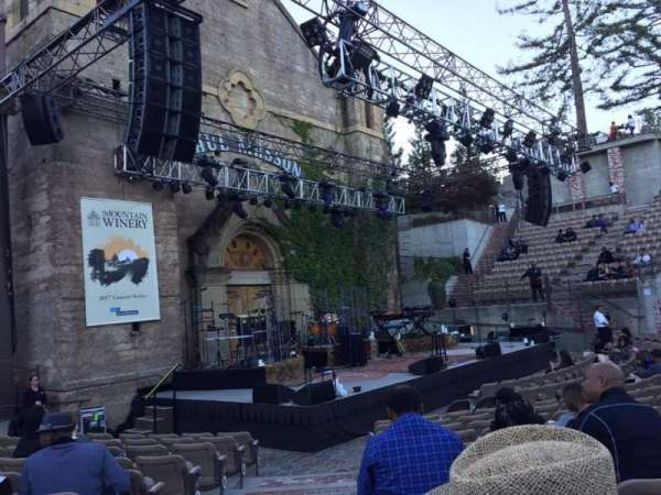 Mountain Winery, section: 1, row: L, seat: 61