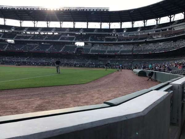 Truist Park, section: 41, row: 1, seat: 6