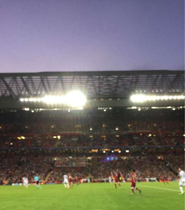 Anfield, section: KL, row: 2, seat: 142