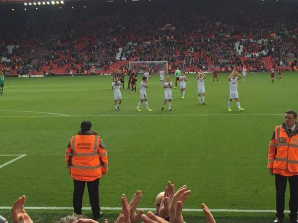 Anfield, section: Anfield road, row: 7, seat: 76