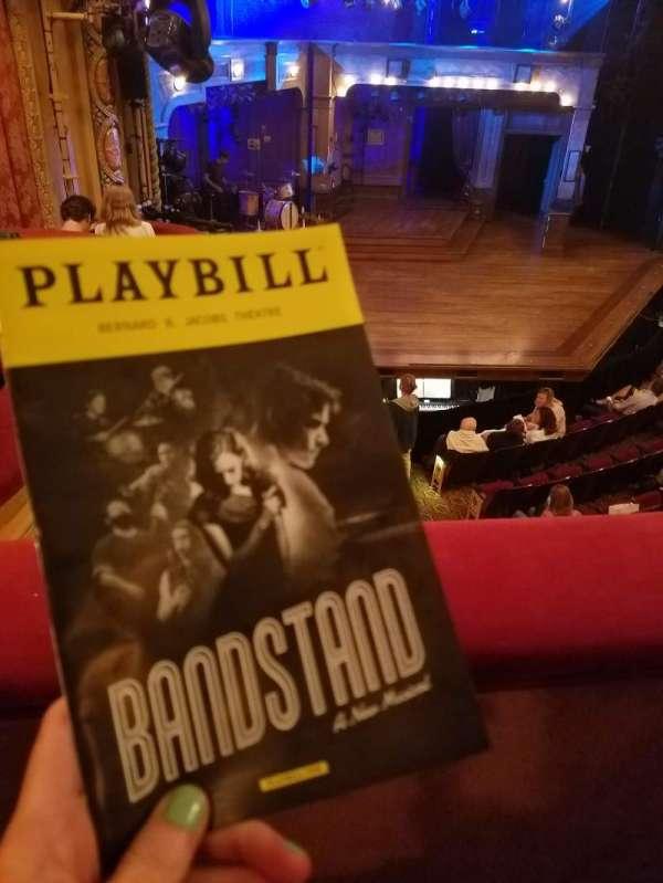 Bernard B. Jacobs Theatre, section: Mezz, row: A, seat: 27