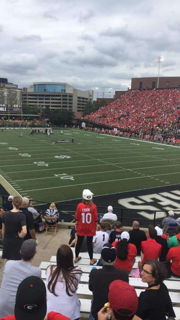 Vanderbilt Stadium, section: I, row: 14, seat: 20