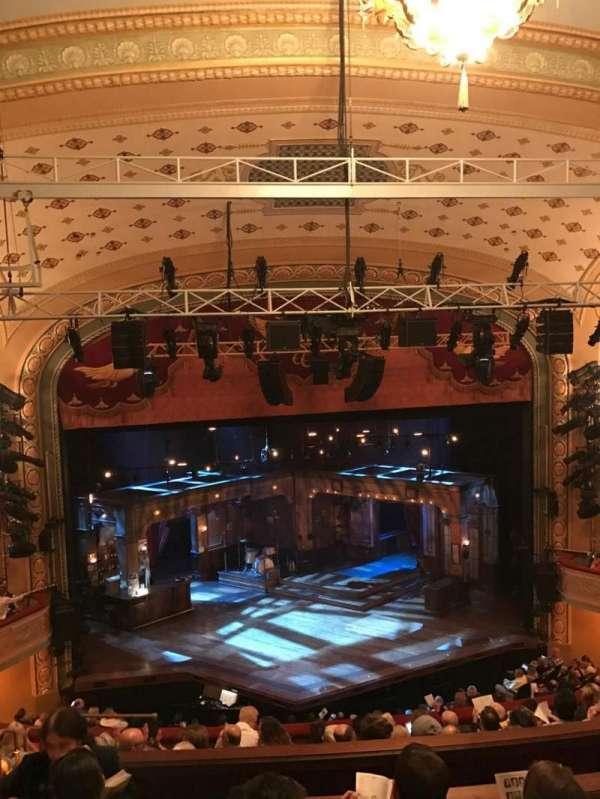 Bernard B. Jacobs Theatre, section: Mezzanine Center, row: H, seat: 113