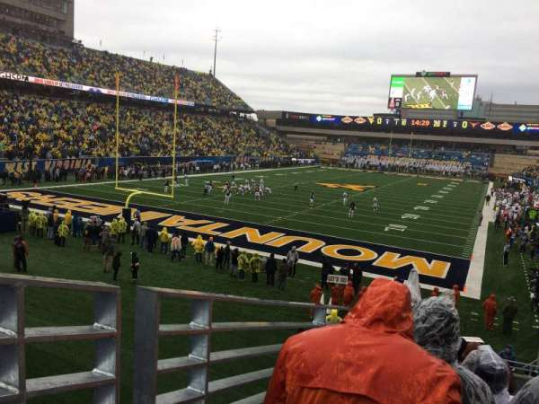 Mountaineer Field, section: 98, row: 24, seat: 15
