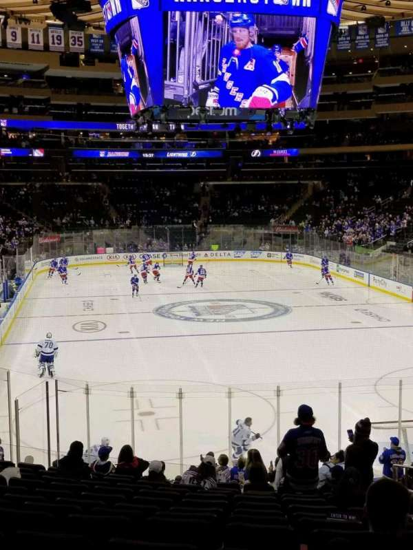Madison Square Garden, section: 119, row: 19, seat: 20