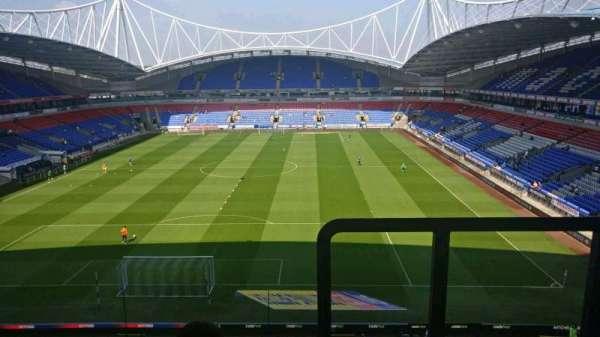 University of Bolton Stadium, section: G, row: JJ, seat: 103