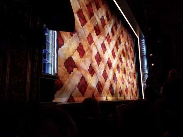 Brooks Atkinson Theatre, section: ORCH-L, row: B, seat: 13