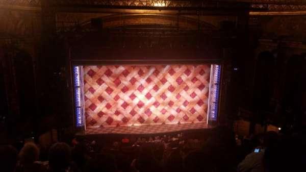 Brooks Atkinson Theatre, section: Center Mezzanine, row: K, seat: 118