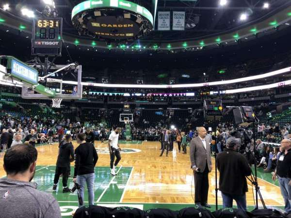 TD Garden, section: Loge 17, row: A , seat: 8