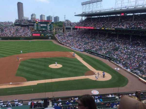 Wrigley Field, section: 311L, row: 3, seat: 7