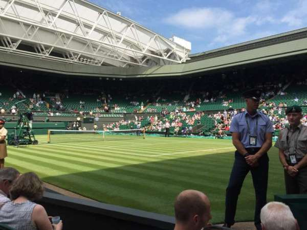 Wimbledon, Centre Court, section: Gangway 101, row: C, seat: 9