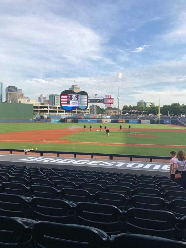First Horizon Park, section: 109, row: Q, seat: 2