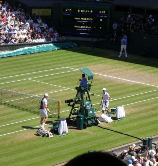 Wimbledon, Centre Court, section: Gangway 506, row: Z, seat: 142