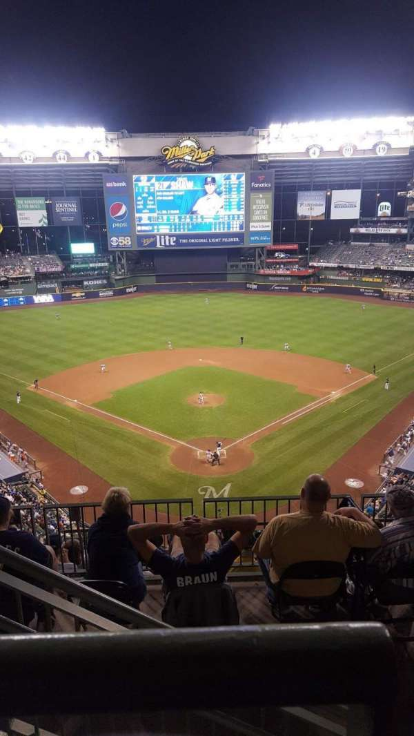 Miller Park, section: 422, row: 8, seat: 2