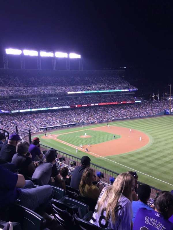 Coors Field, section: L316, row: 4, seat: 11