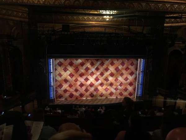 Brooks Atkinson Theatre, section: Mezz, row: H, seat: 120