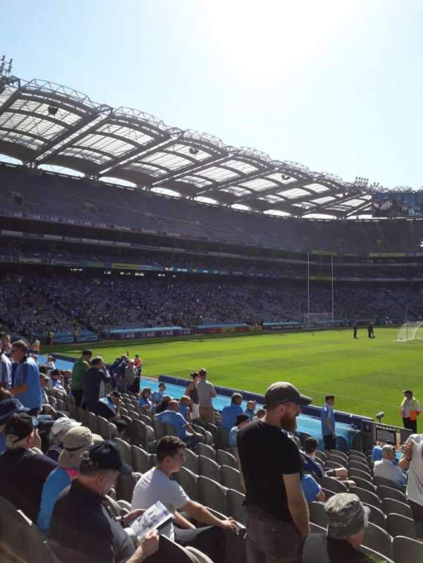 Croke Park, section: Cusack Stand 308, row: R, seat: 2