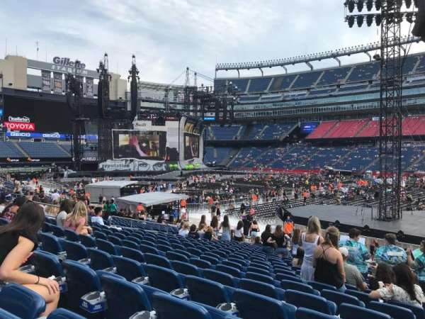 Gillette Stadium, section: 107, row: 19, seat: 2