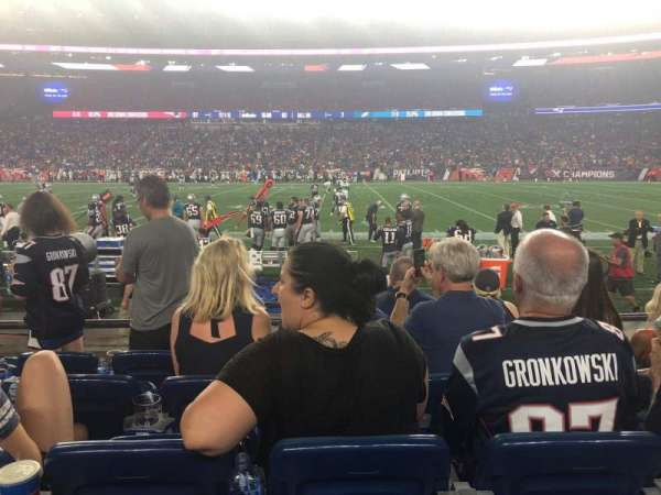Gillette Stadium, section: 108, row: 5, seat: 14