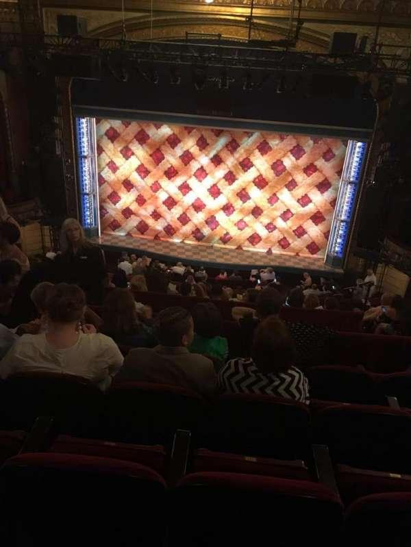 Brooks Atkinson Theatre, section: Rear Mezzanine RC, row: J, seat: 111
