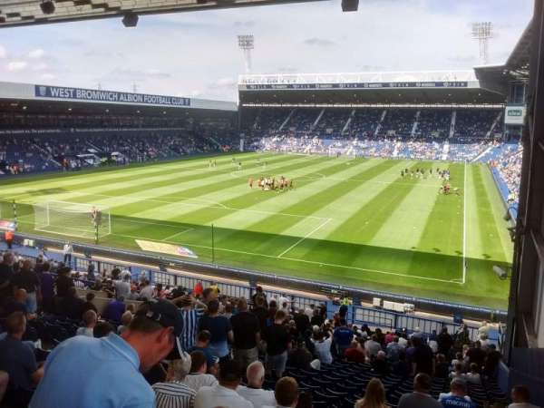 The Hawthorns, section: A1, row: PP, seat: 4