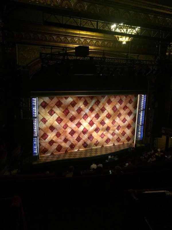 Brooks Atkinson Theatre, section: Rear Mezzanine L, row: G, seat: 5