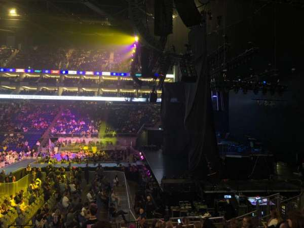 The O2 Arena, section: 112, row: Q, seat: 389