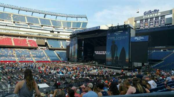 Gillette Stadium, section: 132, row: 22, seat: 2