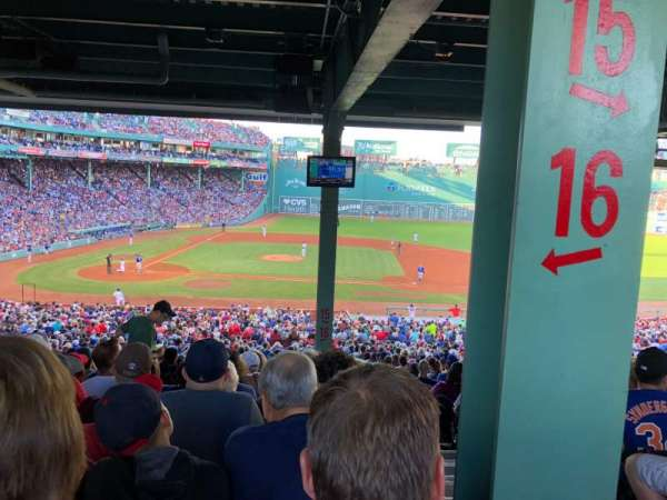 Fenway Park, section: Grandstand 16, row: 18, seat: 2