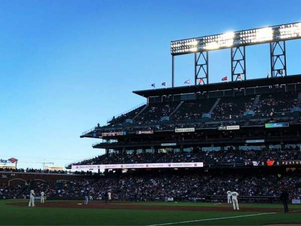 AT&T Park, section: 125, row: 1
